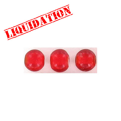 Glass bead India, 6mm, red