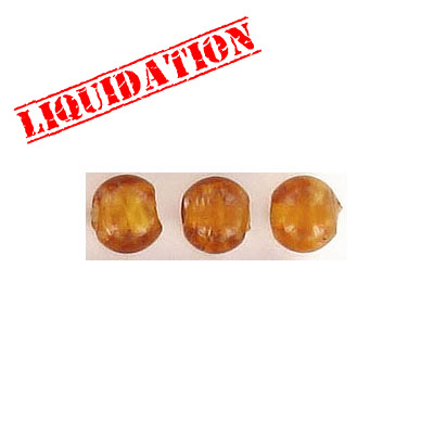 Glass bead India, 6mm, brown
