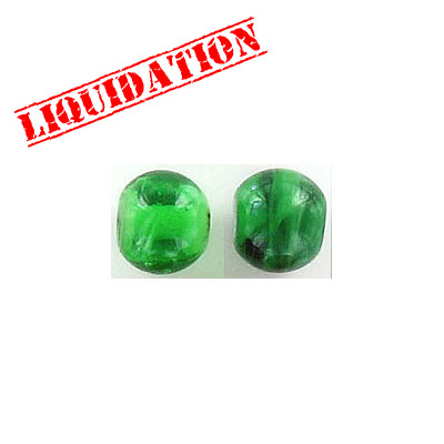 Glass bead India, 8mm, green