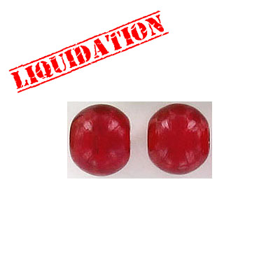 Glass bead India, red
