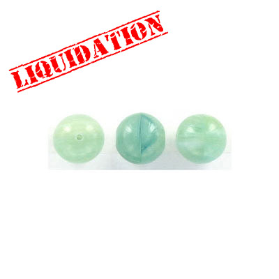 Glass beads, 10mm, round, green