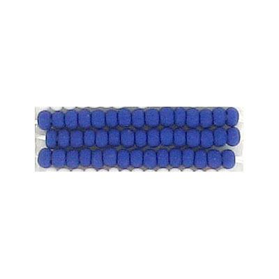 Seed beads, natural opaque bead matt navy
