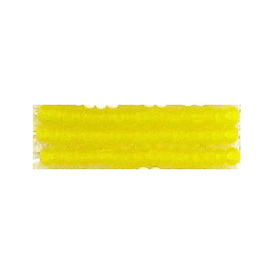 Seed beads, matt natural transparent yellow