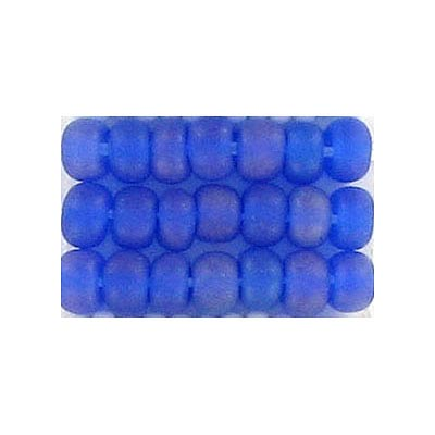 Seed beads, rocaille bd#4 rainbow blue matt