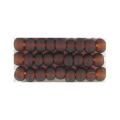 Seed beads, natural  transparent   bead brown