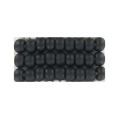 Seed beads, natural  opaque bead black
