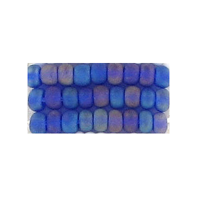 Seed beads, rocaille transparent  matt dark blue