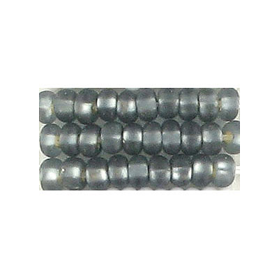 Seed beads, rocaille transparent grey s/l matt