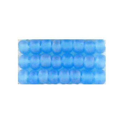 Seed beads, matt rainbow light blue beads