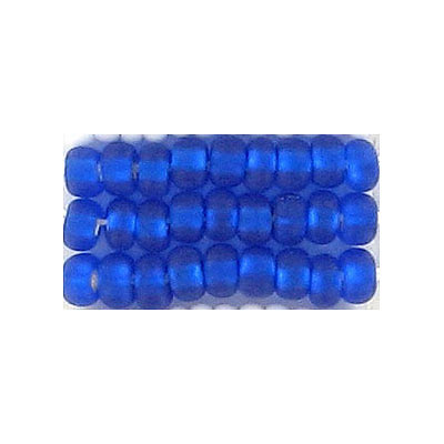 Seed beads, =rocaille bead matt dark  blue s/l