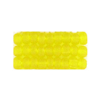 Seed beads, matt transparent bead yellow