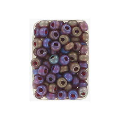 Seed beads, rocaille transparent bead matt red, size 6