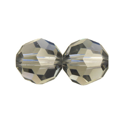 Czech machine cut glass beads, 10mm, faceted round, black diamond