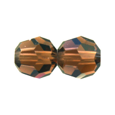 Czech machine cut glass beads, 10mm, faceted round, smoked topaz