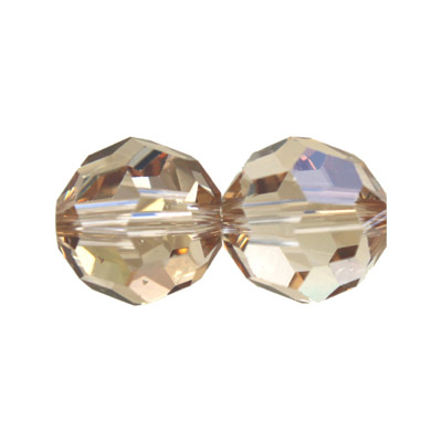 Czech machine cut glass beads, 12mm, honey