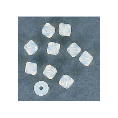Preciosa machine cut glass beads, 4x4mm, bicone, white opal