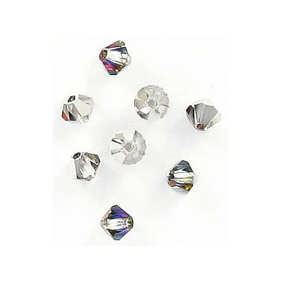 Preciosa machine cut glass beads, 4x4mm, bicone, volcano