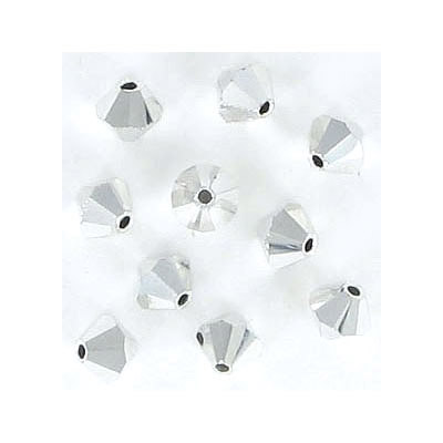 Preciosa machine cut glass beads, 5x5mm, crystal labrador, fullcoat, approx. hole size 0.95mm