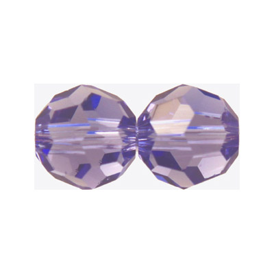 Czech machine cut glass beads, 6mm, faceted round, tanzanite
