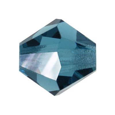 Preciosa machine cut glass beads, bicone, 6x6mm, indicolite