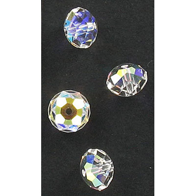 Preciosa machine cut glass beads, 8mm, Bellatrix bead, ab crystal