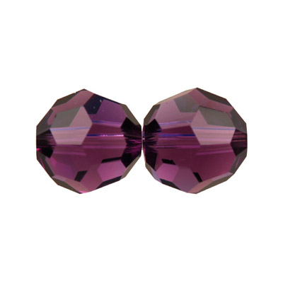 Czech machine cut glass beads, 8mm, faceted round, amethyst