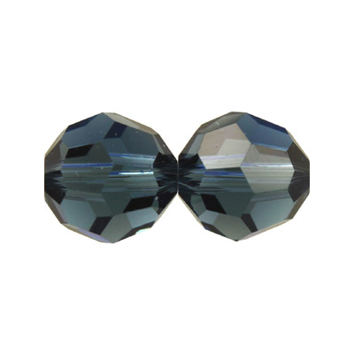 Czech machine cut glass beads, 8mm, faceted round, montana