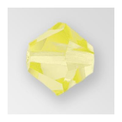 Preciosa machine cut glass beads, 8x8mm, jonquil