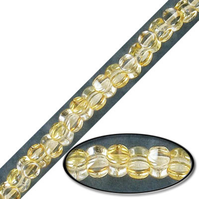 Glass beads, 5mm, pellet, golden shadow, 7 inch strand