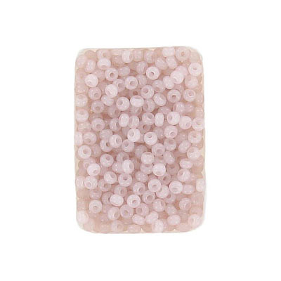 Seed beads, rocaille, 10/0, loose, alabaster solgel old rose