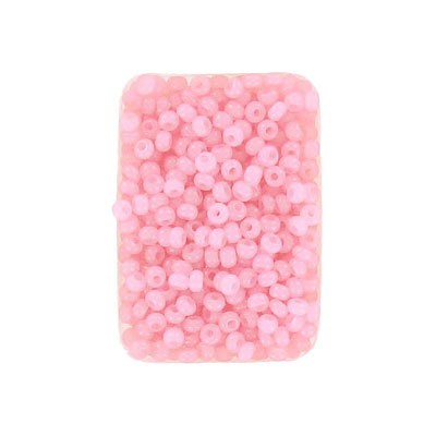 Seed beads, rocaille, 10/0, loose, alabaster solgel pink