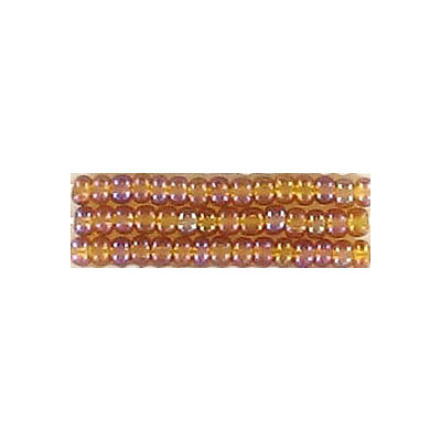 Seed beads, transparent  rocaille dark gold
