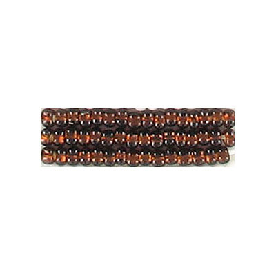 Seed beads, rocailles bead brown