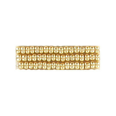 Seed beads, rocaille loose gold