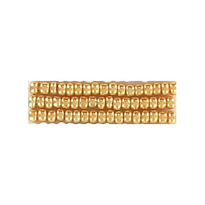 Seed beads, rocaille bead loose gold