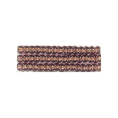 Seed beads, rocaille bronze lined transsparent light amethyst