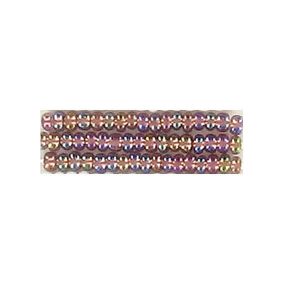 Seed beads, rocaille bronze lined transparent  ab  light amethyst