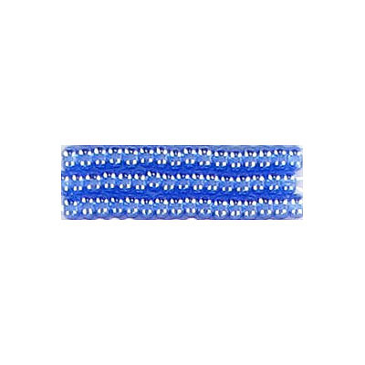 Seed beads, rocaille bead strung blue size 10