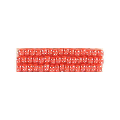 Seed beads, rocaille luster orange