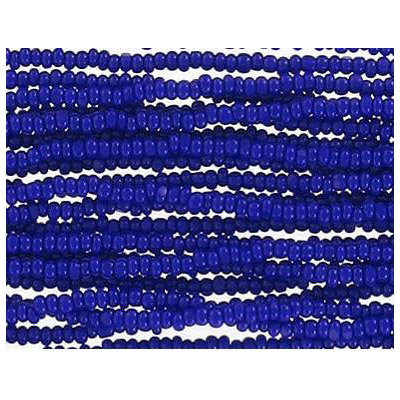 Seed beads, blue charotte bd strung