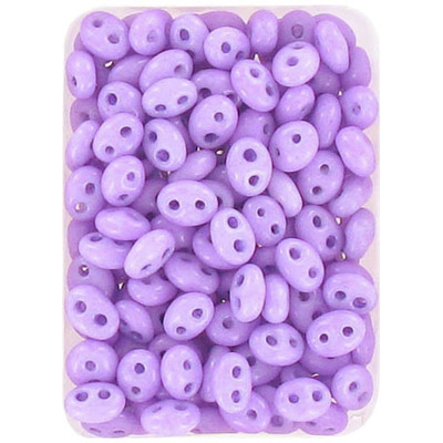 Preciosa, czech twin rocaille beads, 2-hole, violet, dyed, 2.5x5mm