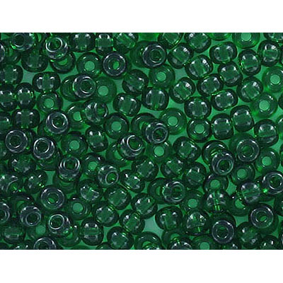 Seed beads, rocaille #4, green transparent
