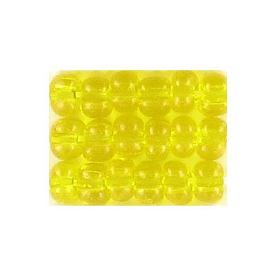 Seed beads, trans.bead loose yellow