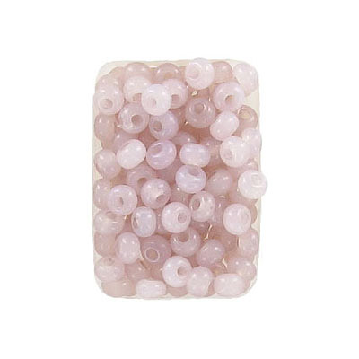 Seed beads, rocaille, 6/0, loose, alabaster solgel old rose
