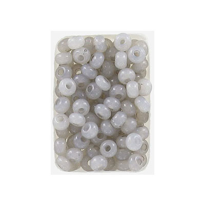 Seed beads, rocaille, 6/0, loose, alabaster solgel taupe