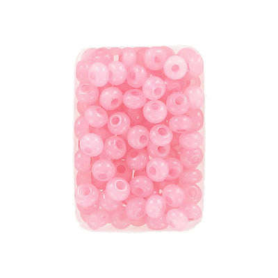 Seed beads, rocaille, 6/0, loose, alabaster solgel pink