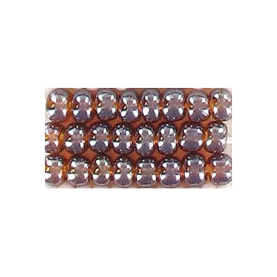 Seed beads, rocaille loose satin smoked topaz