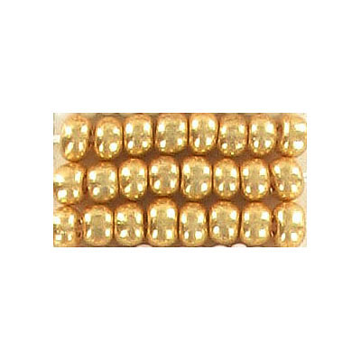 Seed beads, rocaille #6 gold