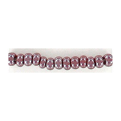 Seed beads, rocaille luster purple
