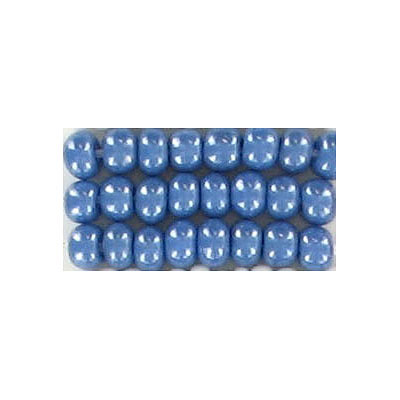 Seed beads, rocaille luster medium blue